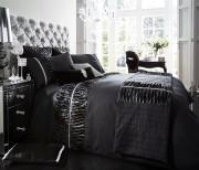 Luxury Bed Linen Duvet / Quilt Cover & Pillowcase Set- Alina Black