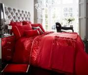 Luxury Bed Linen Duvet / Quilt Cover & Pillowcase Set- Alina Red