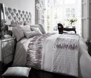 Luxury Bed Linen Duvet / Quilt Cover & Pillowcase Set- Alina Silver