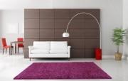 Modern Thick Soft Shaggy Rug- Aubergine/Purple