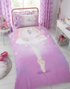 Reversible Duvet Cover with Pillow Case, Quilt Cover, Bedding Set- Ballerina