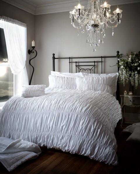 Luxury Bed Linen Elastic Crinkle Duvet Quilt Cover