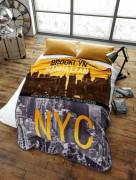 Stylish Unique Modern Design Luxury Soft Mink Bed Blanket, Sofa Throw, NYC