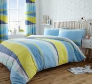 Duvet Cover with Pillow Case, Quilt Cover, Bedding Set- Dexter Blue