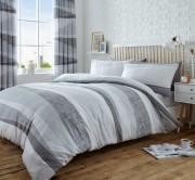 Duvet Cover with Pillow Case, Quilt Cover, Bedding Set- Dexter Grey