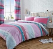 Duvet Cover with Pillow Case, Quilt Cover, Bedding Set- Dexter Pink