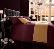 Bed in a Bag 5pc Bedding Duvet Quilt Cover Set, Diamante- Aubergine