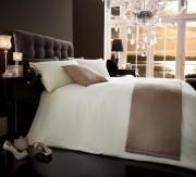 Bed in a Bag 5pc Bedding Duvet Quilt Cover Set, Diamante- Cream