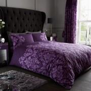 Duvet Cover with Pillow Case, Quilt Cover, Bedding Set- Empire Damask - Purple