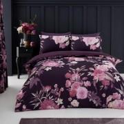 Duvet Cover with Pillow Case, Quilt Cover, Bedding Set- Flora - Purple