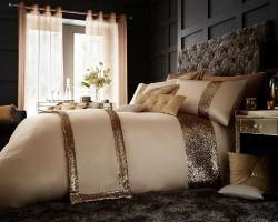 Luxury Bed Linen Duvet / Quilt Cover & Pillowcase Set- Glamorous Natural