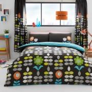 Duvet Cover with Pillow Case, Quilt Cover, Bedding Set- Hanson - Black