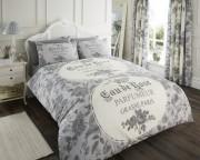 Luxury Bed Linen Duvet / Quilt Cover & Pillowcase Set-Iola Grey