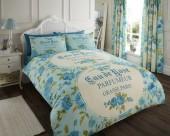 Luxury Bed Linen Duvet / Quilt Cover & Pillowcase Set-Iola Teal