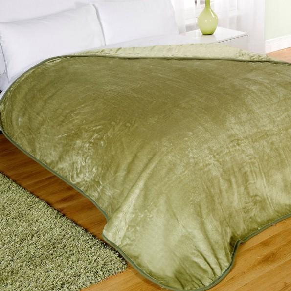 luxury soft faux fur mink throw sofa bed blanket lime green. Black Bedroom Furniture Sets. Home Design Ideas