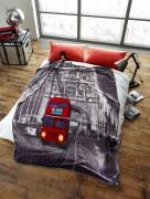 Stylish Unique Modern Design Luxury Soft Mink Bed Blanket, Sofa Throw, London