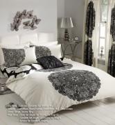 Duvet Cover with Pillow Case, Quilt Cover, Bedding Set-Manhattan Cream Black