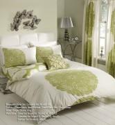 Duvet Cover with Pillow Case, Quilt Cover, Bedding Set-Manhattan Cream Green