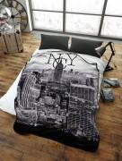 Stylish Unique Modern Design Luxury Soft Mink Bed Blanket, Sofa Throw, NYC City