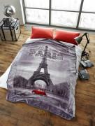 Stylish Unique Modern Design Luxury Soft Mink Bed Blanket, Sofa Throw, Paris