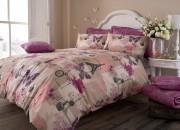 Duvet Cover with Pillow Case, Quilt Cover, Bedding Set- Pistachio Purple
