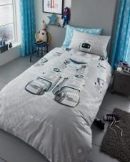 Reversible Duvet Cover with Pillow Case, Quilt Cover, Bedding Set- Robot
