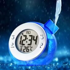 Water Powered Multi Function Digital Desk Clock- Kettle Shape- Blue