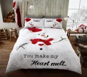 Luxury Bed Linen Duvet / Quilt Cover & Pillowcase Set- Snowman