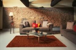 Modern Thick Soft Shaggy Rug- Terracotta