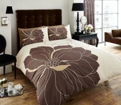 Luxury Bed Linen Duvet / Quilt Cover & Pillowcase Set- Vibrance - Natural