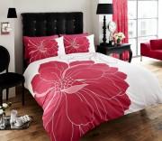 Luxury Bed Linen Duvet / Quilt Cover & Pillowcase Set- Vibrance - Fuchsia