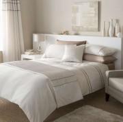 Luxurious Natural Heat Seal Duvet Quilt Cover Set, Curtains & Bedrunner