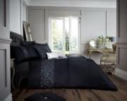 Luxury Bed Linen Duvet / Quilt Cover & Pillowcase Set- Venice Black