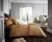 Luxury Bed Linen Duvet / Quilt Cover & Pillowcase Set- Venice Gold