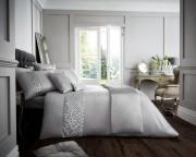 Luxury Bed Linen Duvet / Quilt Cover & Pillowcase Set- Venice Silver