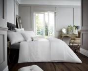 Luxury Bed Linen Duvet / Quilt Cover & Pillowcase Set- Venice White